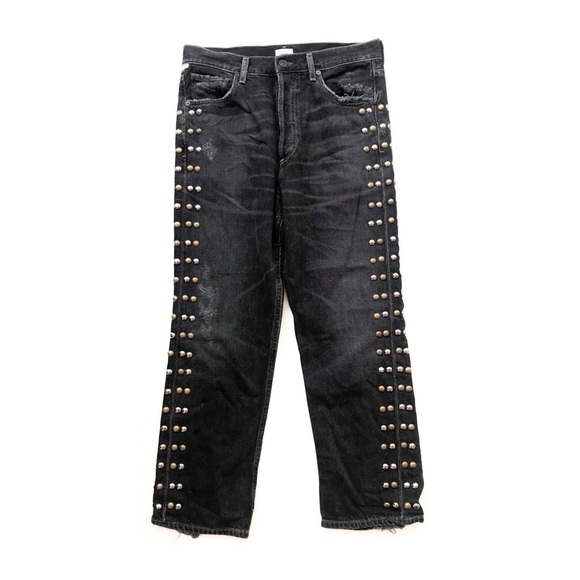 Citizens Of Humanity Denim - Rare COH Gia Studded High Rise Ankle Straight Leg